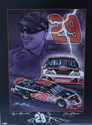 "Kevin Harvick  2006 ""Knights of Thunder"" Artist Proof Sam Bass Remark Print 24"" X 18"" Kevin Harvick  2006 ""Knights of Thunder"" Artist Proof Sam Bass Remark Print 24"" X 18"""