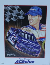 "Kevin Harvick "" ACDelco"" Original Sam Bass Poster 21 X 16 Kevin Harvick "" ACDelco"" Original Sam Bass Poster 21 X 16"