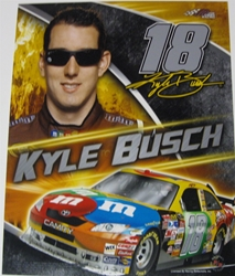 Kyle Busch #18 M&Ms 8 X 10 Photo #01 Kyle Busch #18 M&Ms 8 X 10 Photo