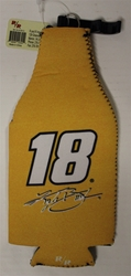 Kyle Busch # 18 Yellow and Black Joe Gibbs Racing Bottle Coozie Kyle Busch nascar diecast, diecast collectibles, nascar collectibles, nascar apparel, diecast cars, die-cast, racing collectibles, nascar die cast, lionel nascar, lionel diecast, action diecast,racing collectibles, historical diecast,coozie,hugger