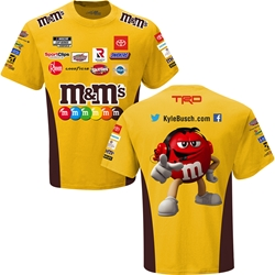 Kyle Busch M&Ms Sublimated Uniform Adult Tee Kyle Busch, shirt, tee, Checkered Flag Sports