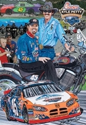 "Kyle Petty 2005 ""Charity Ride 05"" Sam Bass Poster 28"" X 20"" Sam Bass Poster"
