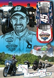 "Kyle Petty 2006 ""Charity Ride 06"" Sam Bass Poster 28"" X 20"" Sam Bas Poster"