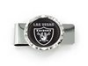 "LAS VEGAS RAIDERS ""LV"" DIAMOND CUT MONEY CLIP nfl, magnet, lanyard, licensed, keychain"
