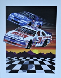 "Lake Speed And Elton Sawyer 1994 "" Ford Motor Credit ""Sam Bass Print 28"" X 21"" Lake Speed And Elton Sawyer 1994 "" Ford Motor Credit ""Sam Bass Print 28"" X 21"""