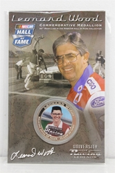 Leonard Wood NASCAR Hall of Fame Commemorative Medallion #20 in Series NASCAR, Hall of Fame, NHOF, Medallion, collector coin,historical racing die cast