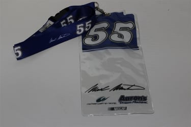 Mark Martin #55 Blue Top Credential Holder and Lanyard Mark Martin nascar diecast, diecast collectibles, nascar collectibles, nascar apparel, diecast cars, die-cast, racing collectibles, nascar die cast, lionel nascar, lionel diecast, action diecast, university of racing diecast, nhra diecast, nhra die cast, racing collectibles, historical diecast, nascar hat, nascar jacket, nascar shirt, R and R