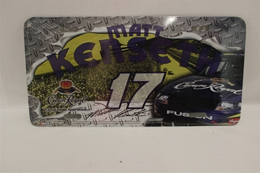 Matt Kenseth #17 Crown Royal Diamond Plate Crown Royal License Plate Matt Kenseth ,Diamond Plate Crown Royal ,License Plate,R and R Imports,R&R
