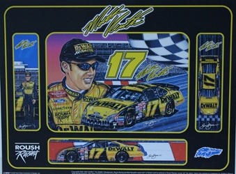 "Matt Kenseth 2003 Dewalt # 17 Original Sam Bass Print 24"" X 18"" Matt Kenseth 2003 Dewalt # 17 Original Sam Bass Print 24"" X 18"""