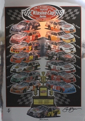 "Matt Kenseth 2003 "" Victory Lap "" Winston Cup Series Artist Proof Sam Bass Print 30"" X 22"" Matt Kenseth 2003 Winston Cup Series Artist Proof  Sam Bass Print 30"" X 22"""