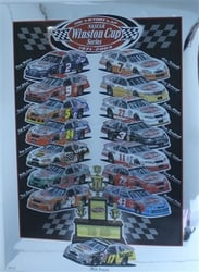 "Matt Kenseth 2003 "" Victory Lap "" Winston Cup Series Numbered Sam Bass Print 30"" X 22"" Matt Kenseth 2003 Winston Cup Series Numbered  Sam Bass Print 30"" X 22"""