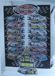 "Matt Kenseth 2003 "" Victory Lap "" Winston Cup Series Original Sam Bass Print 30"" X 22"" Matt Kenseth 2003 Winston Cup Series Original Sam Bass Print 30"" X 22"""