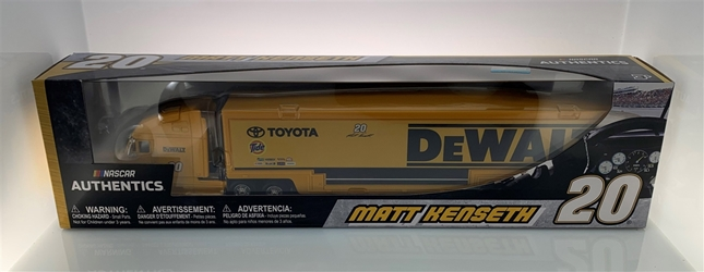 Matt Kenseth 2017 DeWalt #20 1:64 Hauler Nascar Authentics Matt Kenseth nascar diecast, diecast collectibles, nascar collectibles, nascar apparel, diecast cars, die-cast, racing collectibles, nascar die cast, lionel nascar, lionel diecast, action diecast, university of racing diecast, nhra diecast, nhra die cast, racing collectibles, historical diecast, nascar hat, nascar jacket, nascar shirt,Matt Kenseth 2017 DeWalt #20 1:64 Hauler Nascar Authentics