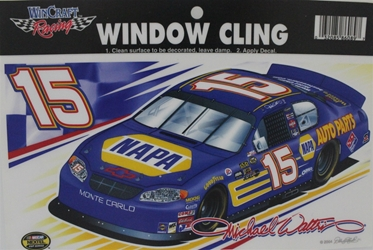 Michael Waltrip #15 NAPA Window Cling Michael Waltrip #15 NAPA Window Cling