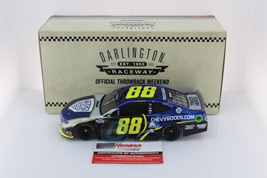 *Preorder* Alex Bowman Autographed 2020 Chevy Goods Darlington Throwback 1:24 Color Chrome Nascar Diecast Alex Bowman Nascar Diecast,2020 Nascar Diecast,1:24 Scale Diecast, pre order diecast