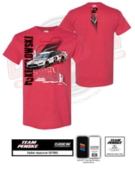 Brad Keselowski Discount Tire Electric Car 2-Spot Tee Brad Keselowski, apparel, Penske Racing