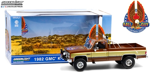 *Preorder* Fall Guy Stuntman Association 1:18 - 1982 GMC K-2500 Sierra Grande Wideside Fall Guy Stuntman Association, TV Diecast, 1:18 Scale, GMC K-2500 Sierra Grande Wideside