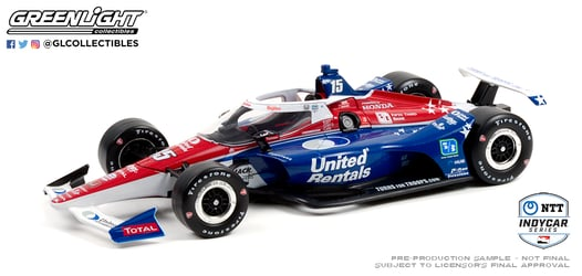 *Preorder* Graham Rahal / Rahal, Letterman, Lanigan Racing #15 United 1:18 2021 NTT IndyCar Series Graham Rahal, 2021, 1:18, diecast, greenlight, indy