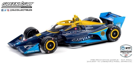 *Preorder* Jimmie Johnson / Chip Ganassi Racing #48 Carvana 1:18 2021 NTT IndyCar Series Jimmie Johnson,2021,1:18,diecast,greenlight,indy