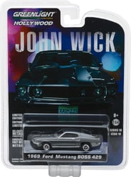 *Preorder* John Wick (2014) 1:64 1969 Ford Mustang BOSS 429 Solid Pack John Wick, Movie Diecast, 1:64 Scale