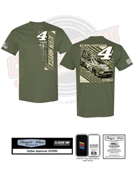 *Preorder* Kevin Harvick #4 Busch Light Military Salute 3-Spot Adult Tee Kevin Harvick, shirt, nascar, 23XI