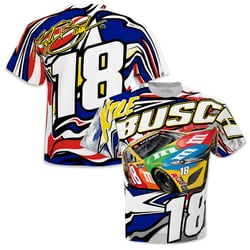 *Preorder* Kyle Busch M&Ms Sublimated Patriotic Total Print Adult Tee Kyle Busch, shirt, tee, Checkered Flag Sports