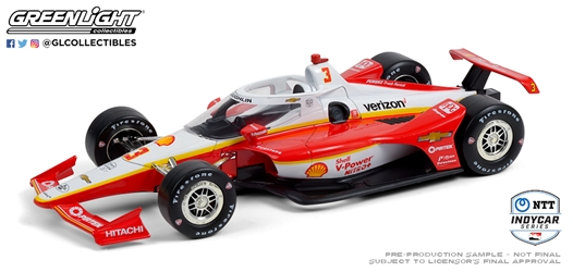 *Preorder* Scott McLaughlin / Team Penske #3 Shell V-Power Nitro+ 1:18 2020 NTT IndyCar Series Scott McLaughlin,2020,1:18,diecast,greenlight,indy