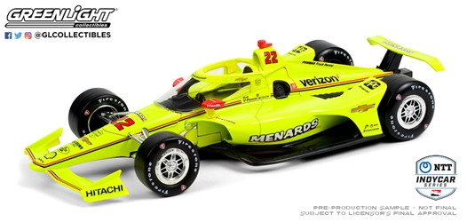 *Preorder* Simon Pagenaud / Team Penske #22 Menards 1:18 2021 NTT IndyCar Series Simon Pagenaud, 2021, 1:18, diecast, greenlight, indy