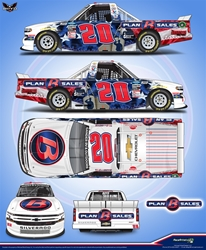 *Preorder* Spencer Boyd 2020 Plan B Sales Veterans Day 1:24 Color Chrome Nascar Diecast Spencer Boyd diecast, 2020 nascar diecast, pre order diecast, NAME ON CAR, Veteranss Day
