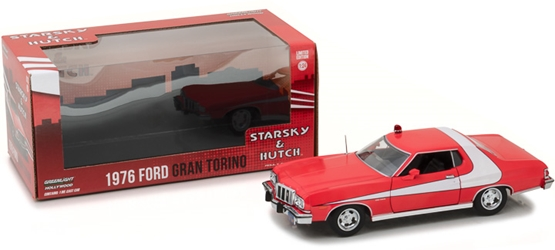 *Preorder* Starsky and Hutch (1975-79 TV Series) 1:24 - 1976 Ford Gran Torino Starsky and Hutch, TV Diecast, 1:24 Scale, 1976 Ford Gran Torino