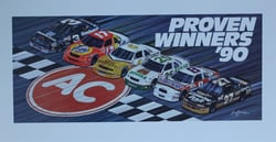 """ Proven Winners "" Sam Bass Print 18""  X 34.5"" "" Proven Winners "" Sam Bass Print 18""  X 34.5"""