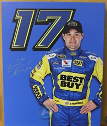 Ricky Stenhouse #17 Best Buy 16 X 20 Canvas Auto in Yellow Paint Pen Ricky Stenhouse #17 Best Buy 16 X 20 Canvas Auto in Yellow Paint Pen