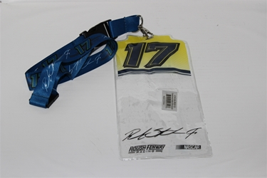 Ricky Stenhouse #17 Yellow Top Credential Holder and Blue Lanyard Ricky Stenhouse nascar diecast, diecast collectibles, nascar collectibles, nascar apparel, diecast cars, die-cast, racing collectibles, nascar die cast, lionel nascar, lionel diecast, action diecast, university of racing diecast, nhra diecast, nhra die cast, racing collectibles, historical diecast, nascar hat, nascar jacket, nascar shirt, R and R