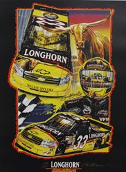 "Ron Hornaday 2009 "" Longhorn Racing "" Numbered Sam Bass Print 18"" X 24"" Ron Hornaday 2009 "" Longhorn Racing "" Numbered Sam Bass Print 18"" X 24"""