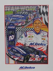 "Ron Hornaday "" ACDelco Racing "" Original Sam Bass Print 18"" X 24"" Ron Hornaday "" ACDelco Racing "" Original Sam Bass Print 18"" X 24"""