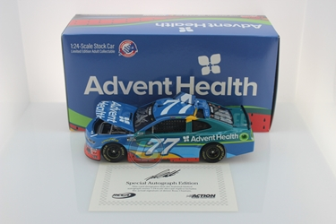 Ross Chastain Autographed 2020 AdventHealth 1:24 Nascar Diecast Ross Chastain, Nascar Diecast,2020 Nascar Diecast,1:24 Scale Diecast,pre order diecast