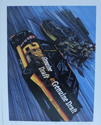 "Rusty Wallace "" 2 Fast "" Original Numbered Sam Bass Print 18.5 X 23.5 Rusty Wallace "" 2 Fast "" Original Numbered Sam Bass Print 18.5 X 23.5"