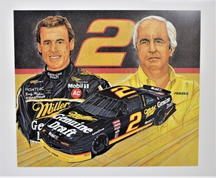 "Rusty Wallace & Roger Penske 90 ""A Pair of Winners"" Sam Bass Print 24"" x 20"" Rusty Wallace & Roger Penske 90 ""A Pair of Winners"" Sam Bass Print 24"" x 20"""