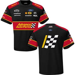 Ryan Blaney Advance Auto Parts Sublimated Uniform Adult Tee Ryan Blaney, shirt, tee, Checkered Flag Sports