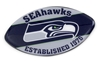 SEATTLE SEAHAWKS SLOGAN FOOTBALL MAGNET nfl, magnet, lanyard, licensed, keychain