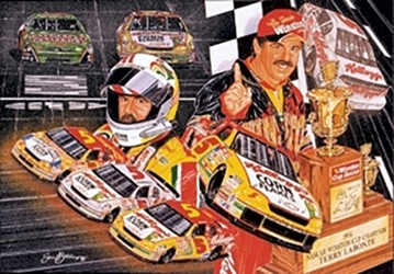 "Terry Labonte 1996 ""Silver & Gold!"" Sam Bass Poster 21"" X 27"" Sam Bas Poster"