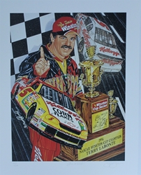 "Terry Labonte 1996 Winston Cup Champion "" Silver And Gold "" Original Sam Bass Numbered Print 27"" X 21"" Terry Labonte 1996 Winston Cup Champion "" Silver And Gold "" Original Sam Bass Numbered Print 27"" X 21"""