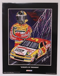 "Terry Labonte ""Knights of Thunder"" 17"" X 23"" Original 1997 Sam Bass Poster Sam Bass, Terry Labonte, 1997, Monster Energy Cup Series, Winston Cup,Poster,"