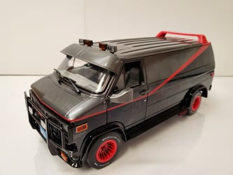 The A-Team (1983-87 TV Series) 1:18 - 1983 GMC Vandura The A-Team, TV Diecast, 1:18 Scale, 1983 GMC Vandura